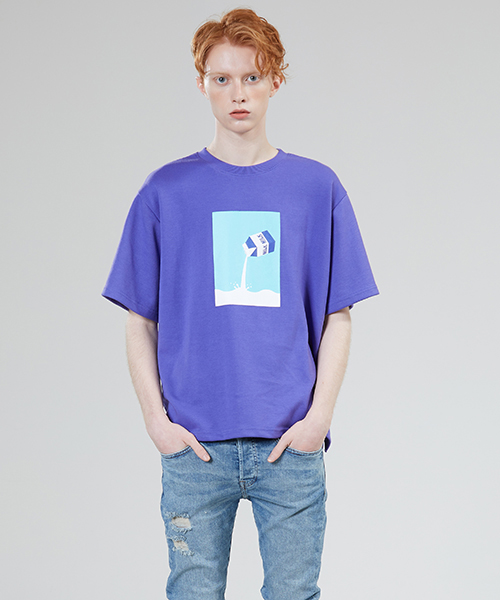 *MOTIVESTREET*ミルクTシャツパープル