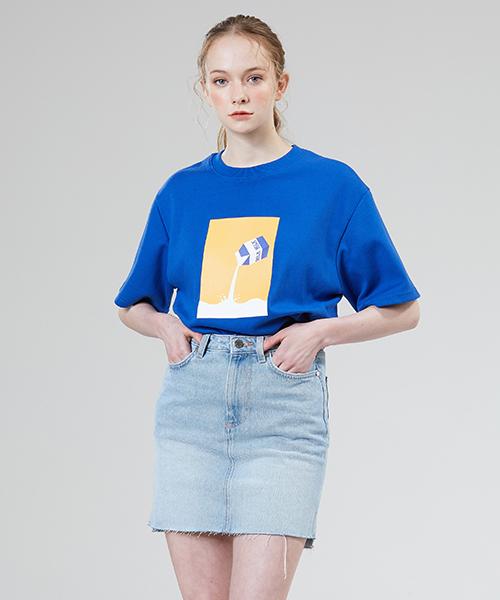 *MOTIVESTREET*ミルクTシャツブルー