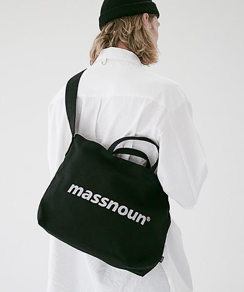 *Massnoun*SLロゴ2WAYエコバッグMSEAB001-BK