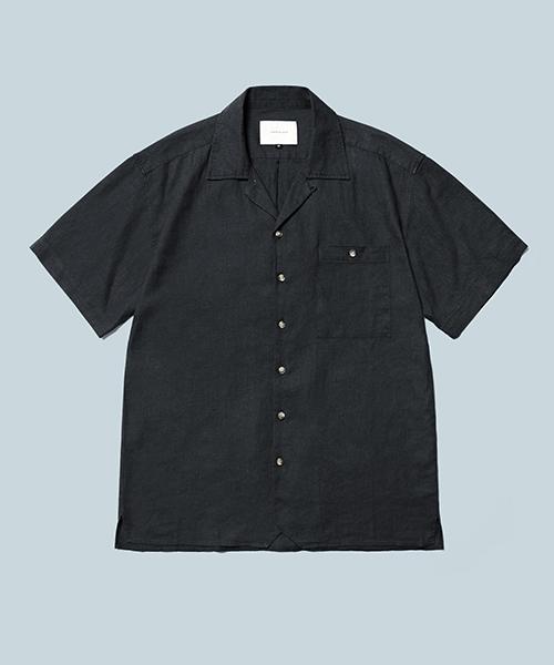 *DIAMOND LAYLA*レイラ2WAYオープンカラー1/2シャツS21ブラック