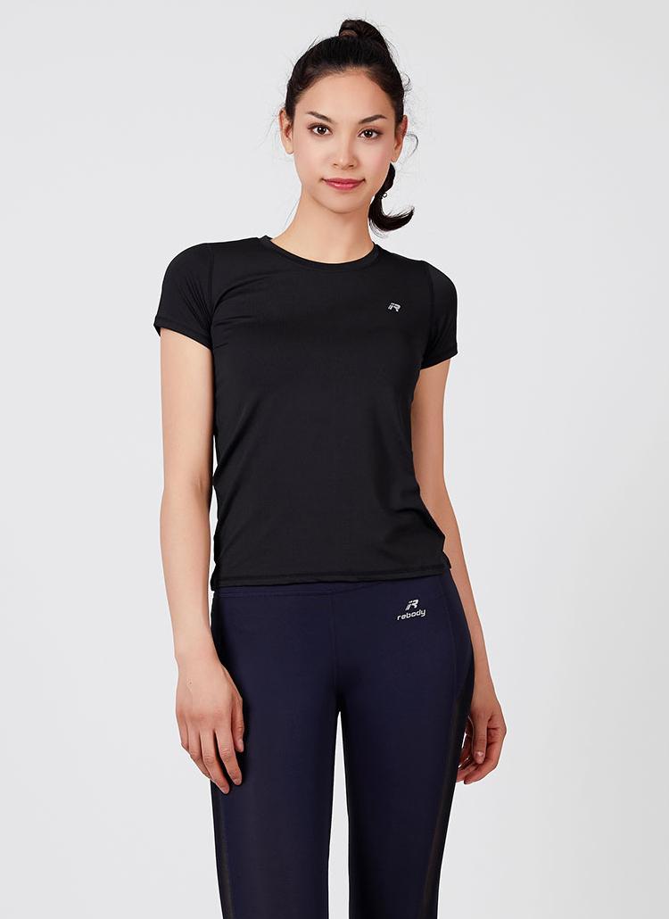 パンチングラウンドネックTシャツ(ブラック)