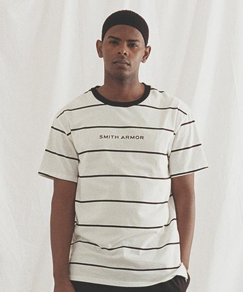 *SMITH ARMOR*ルーズフィットコンバインTシャツ(ホワイト)