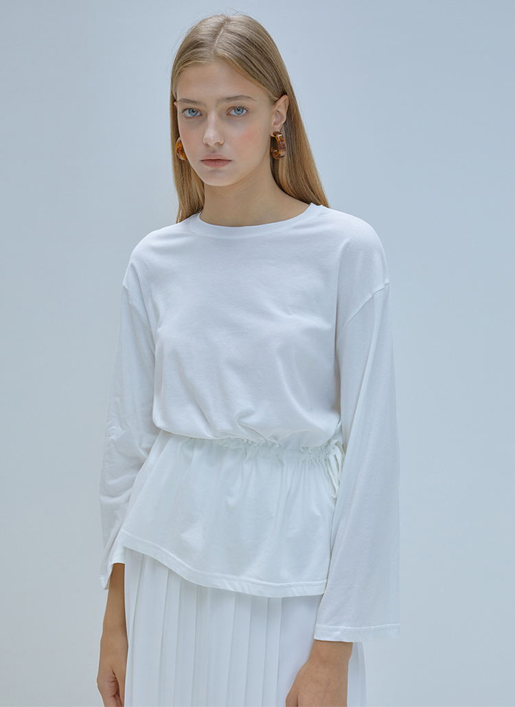 *ANEDIT*ドローストリングTシャツ(ホワイト)