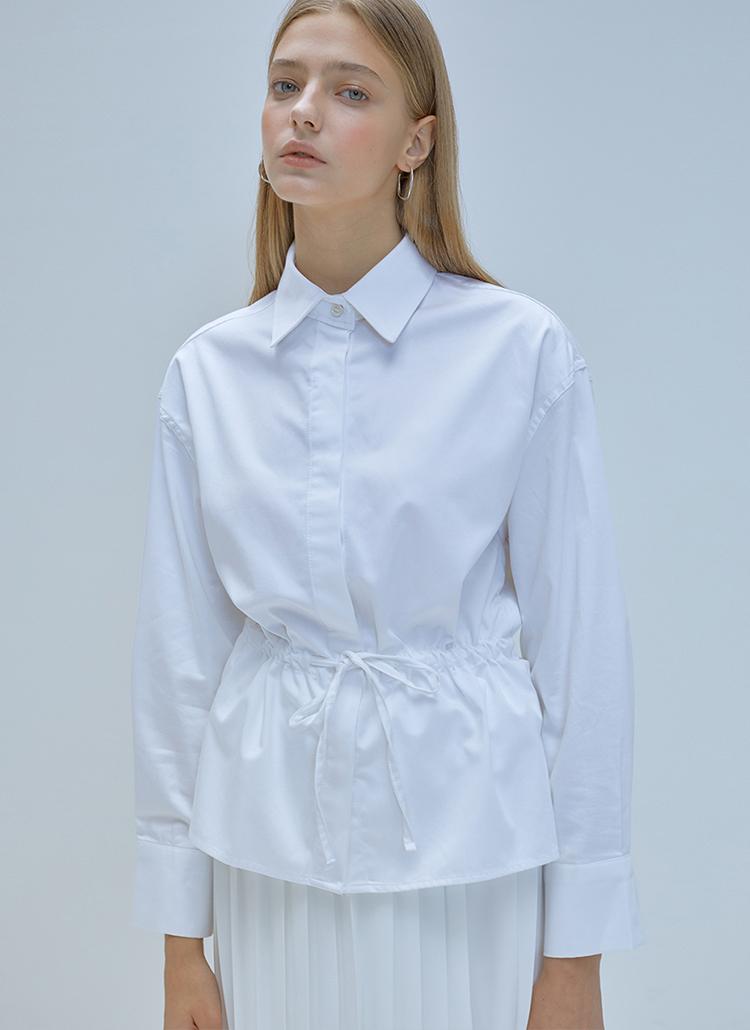 *ANEDIT*ウエストストラップシャツ(ホワイト)
