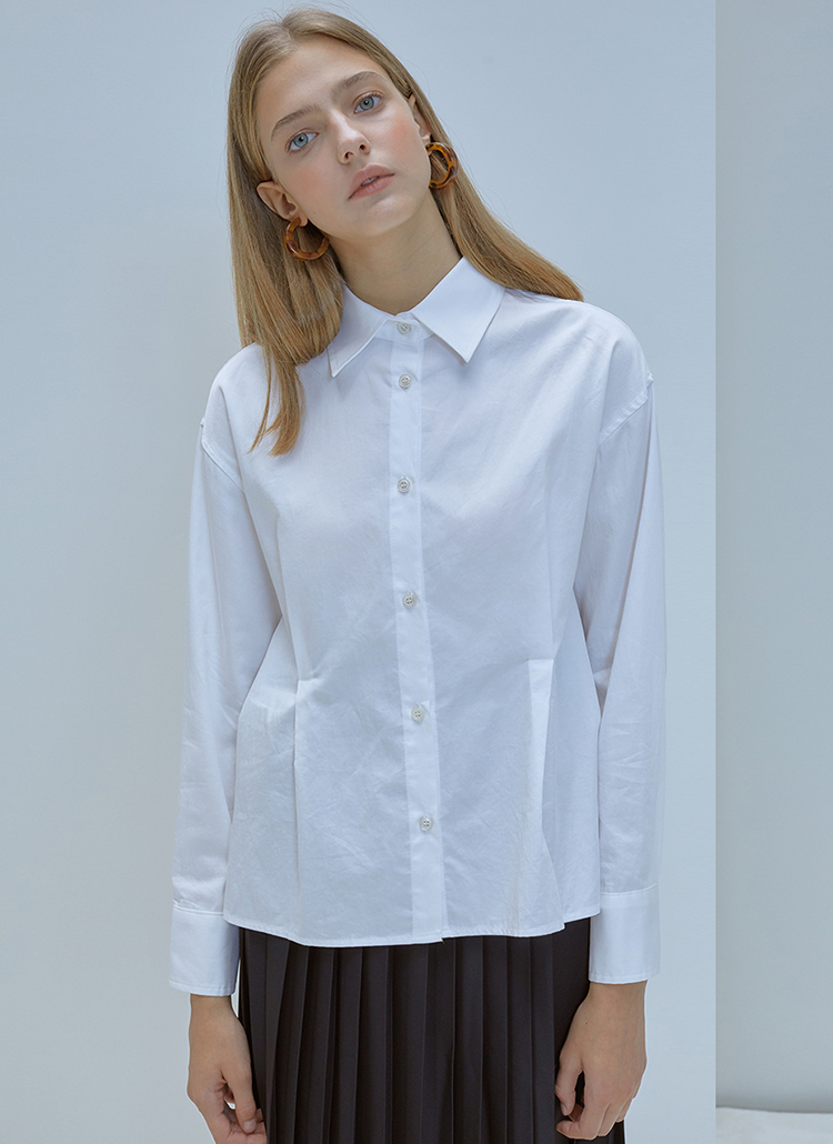 *ANEDIT*ワンタックシャツ(ホワイト)