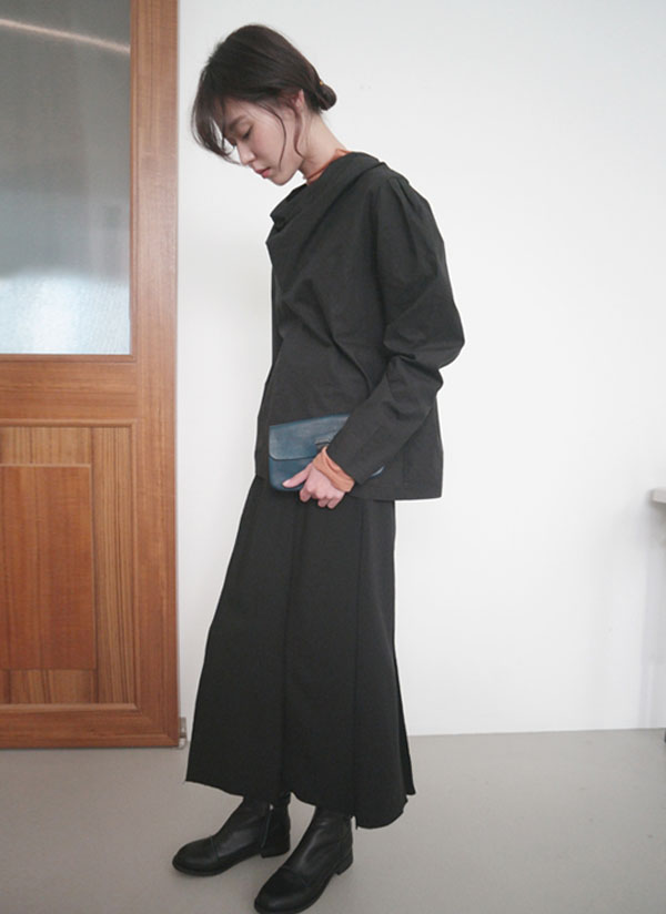ステッチラインスリットスカート
