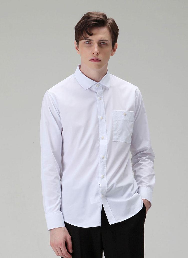 *HALB KREIS*SH-301スリムフィットシャツ(ホワイト)