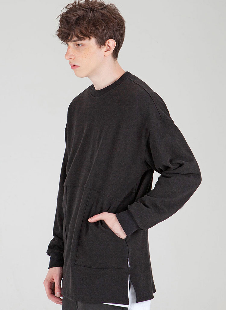 *HALB KREIS*TA-43ファティーグスウェットシャツ(ブラック)