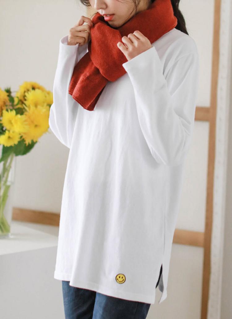 スマイル刺繍オーバーフィットTシャツ