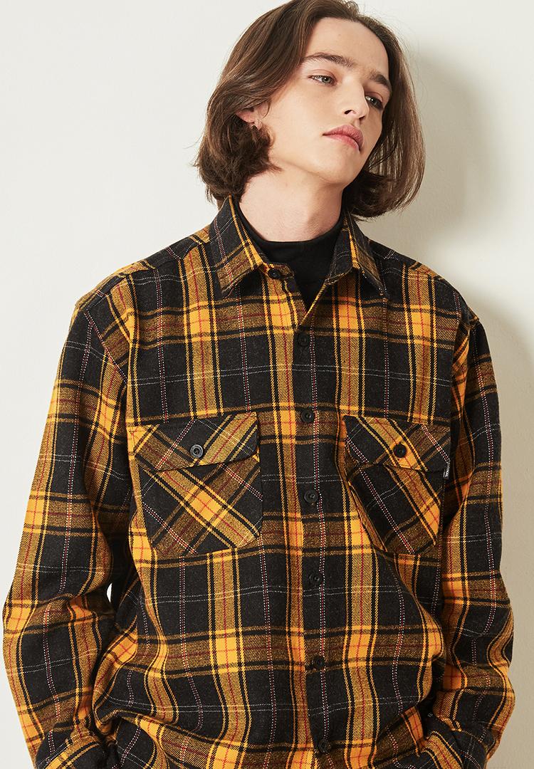 *F.ILLUMINATE*タータンチェックシャツジャケット(イエロー)