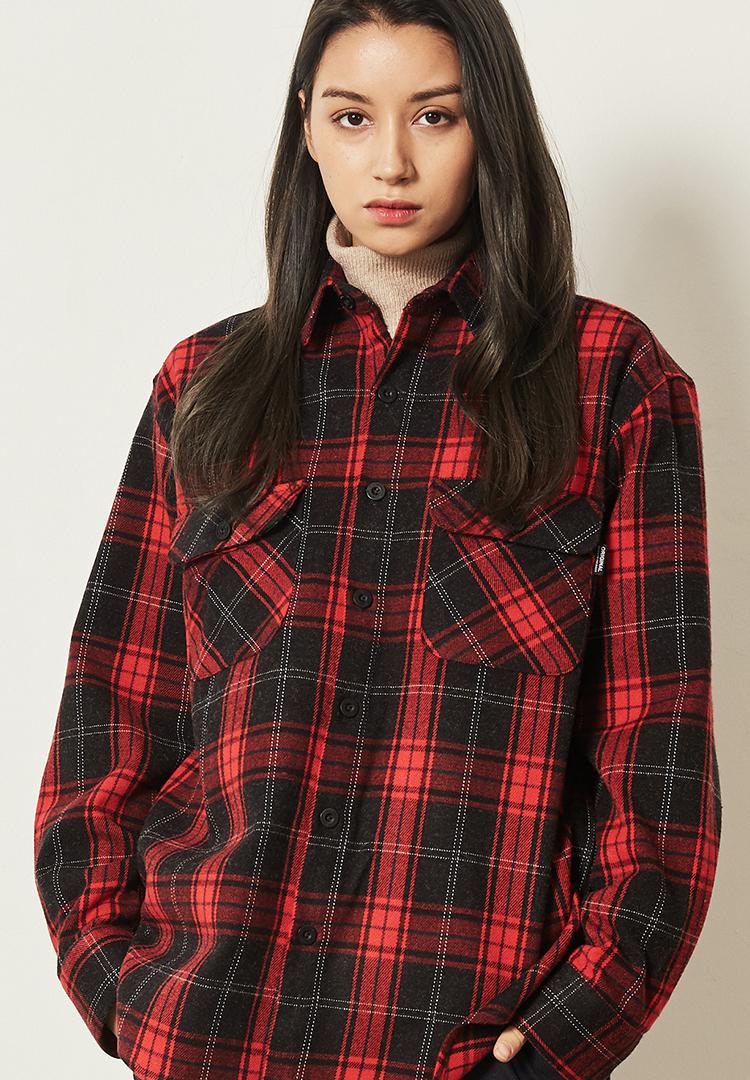 *F.ILLUMINATE*タータンチェックシャツジャケット(レッド)