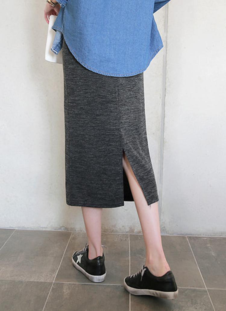 ウエストゴムスリットHラインスカート
