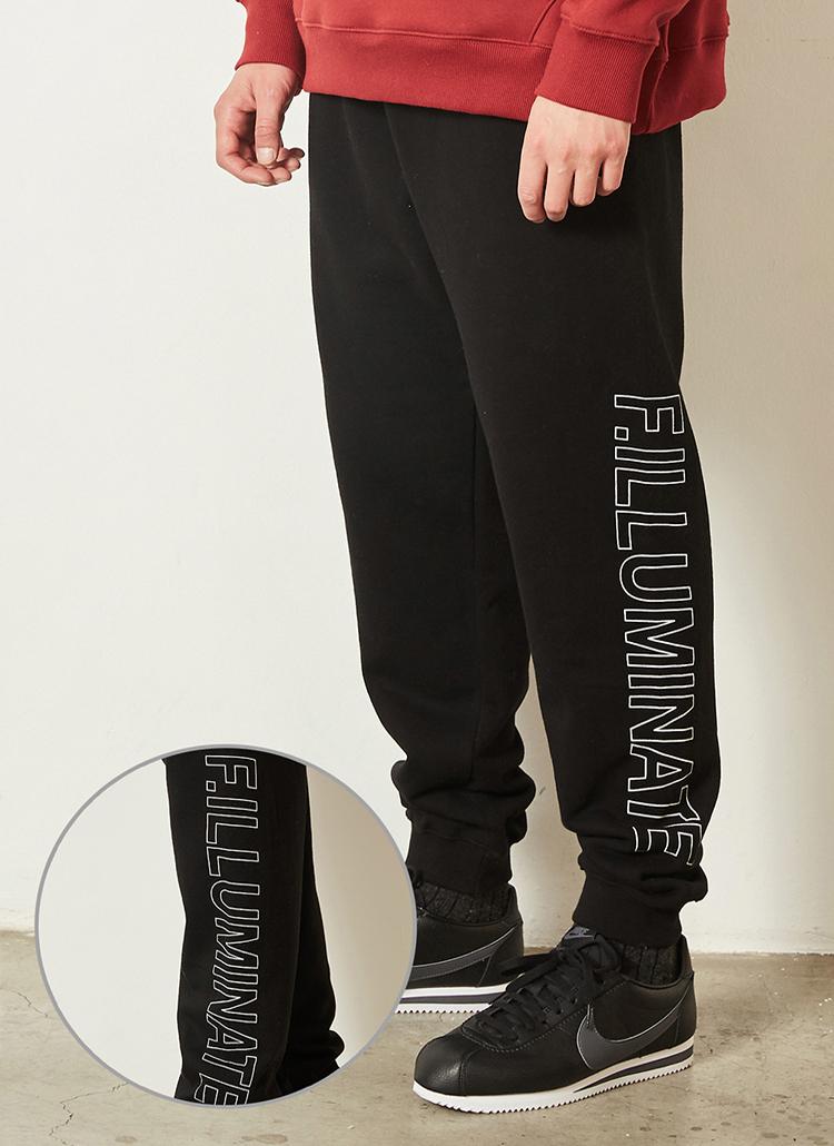 *F.ILLUMINATE*ロゴポイントコットントレーニングパンツ(ブラック)