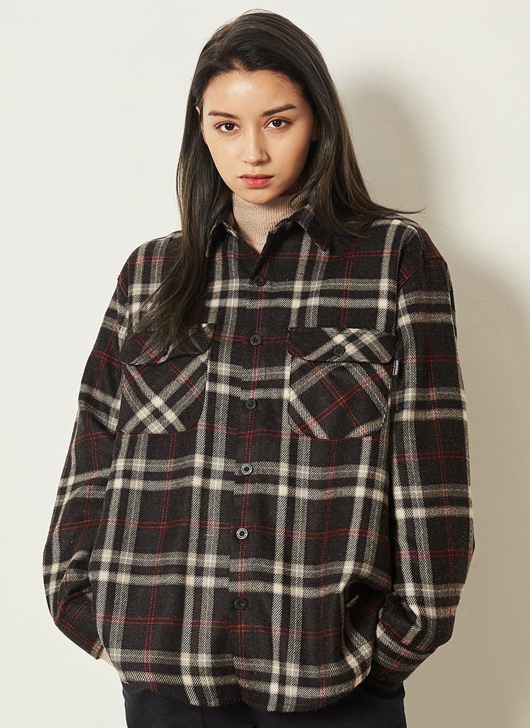 *F.ILLUMINATE*マイルドチェックシャツジャケット(ブラック)