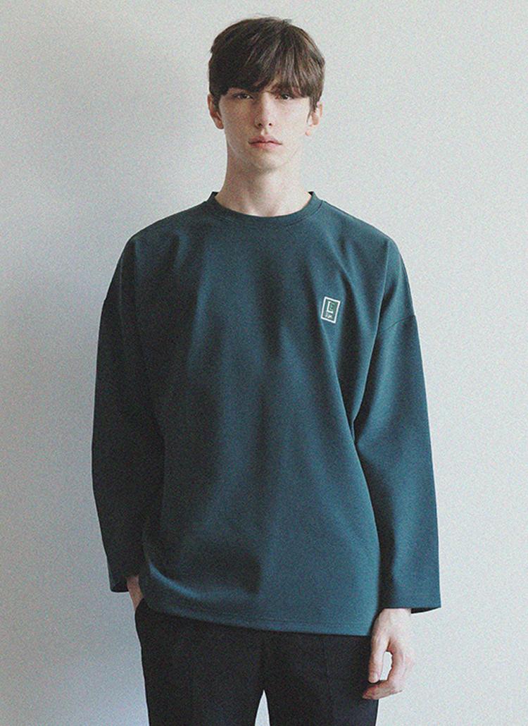 *LIEU HOMME*スクエアパッチポイントTシャツ