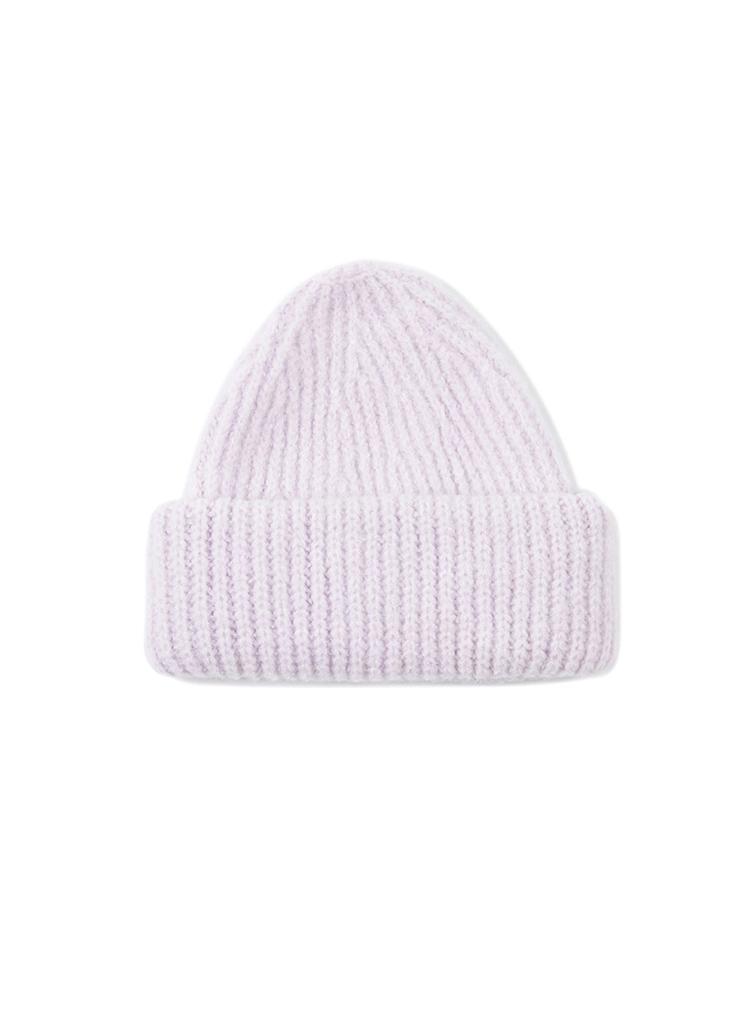 ソフトニット帽(ライトパープル)