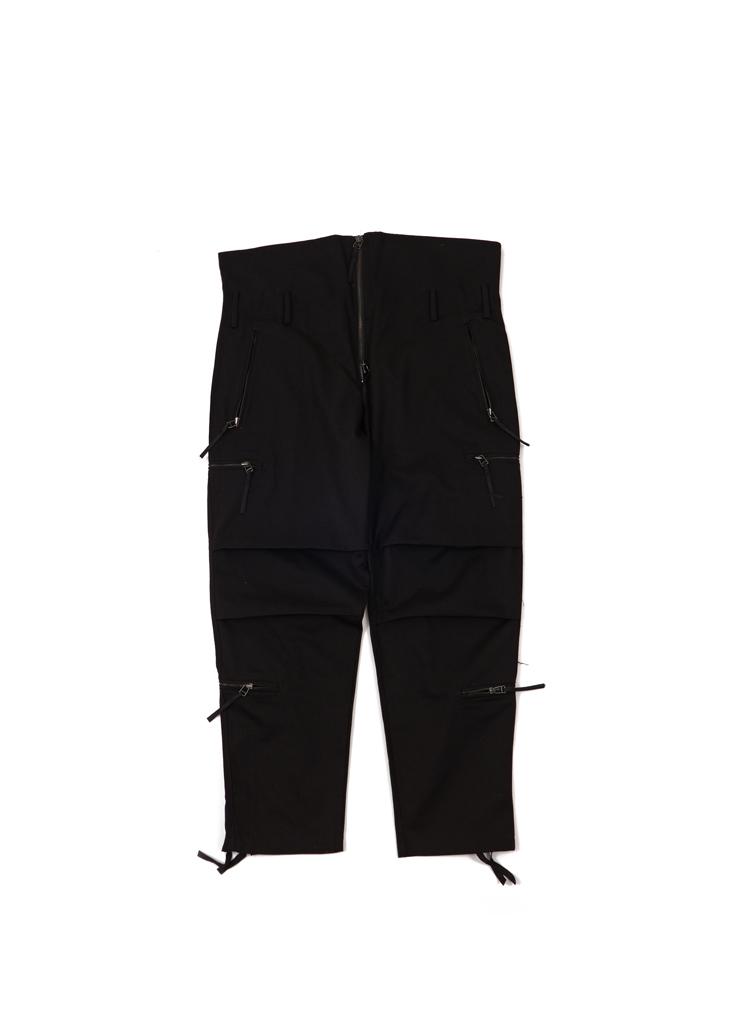 ハイウエストドローストリングパンツ(ブラック)