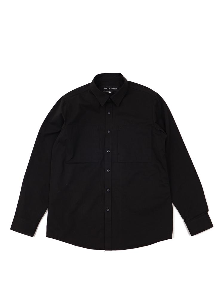SAダブルポケットシャツ(ブラック)