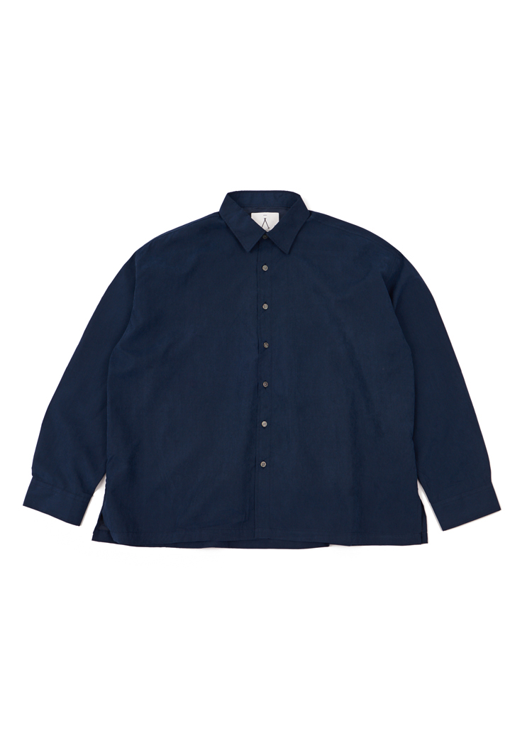 SAルーステッドオーバーシャツ(ネイビー)
