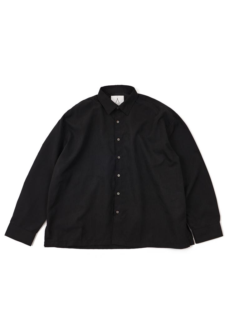 SAルーステッドオーバーシャツ(ブラック)
