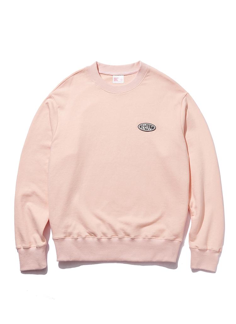 裏起毛オーバルロゴスウェット(ピンク)