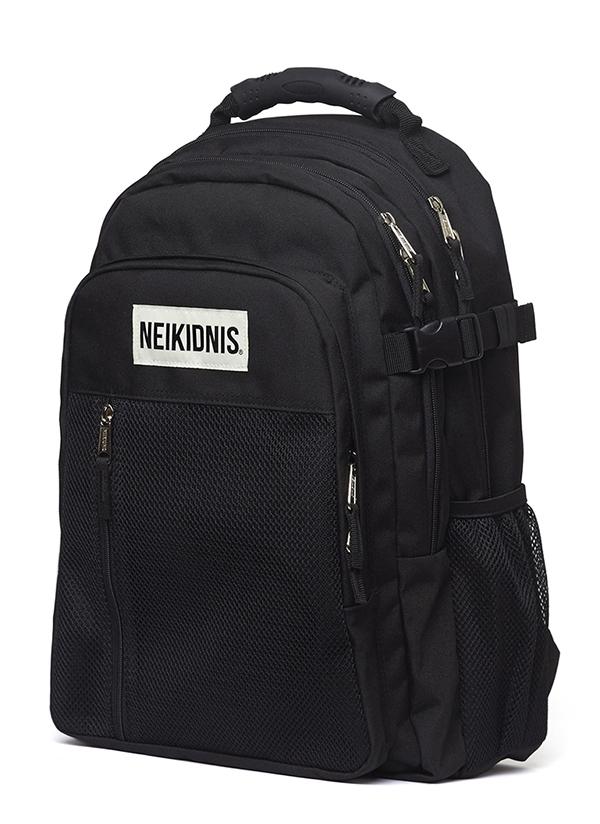 メッシュポケット3Dバックパック(ブラック)