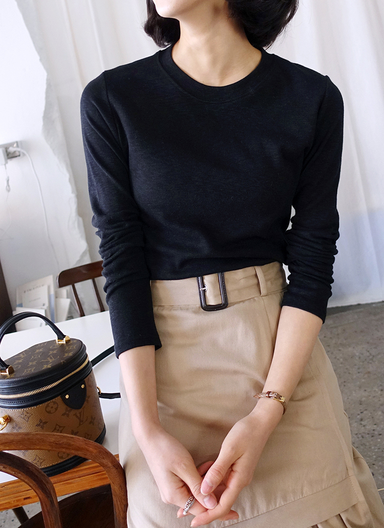 モダール混ラウンドネックTシャツ・全5色