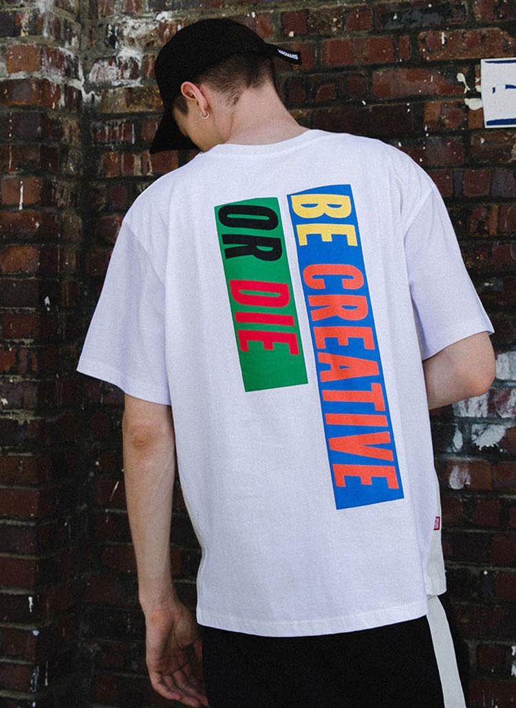 バックボックスプリントTシャツ(ホワイト)
