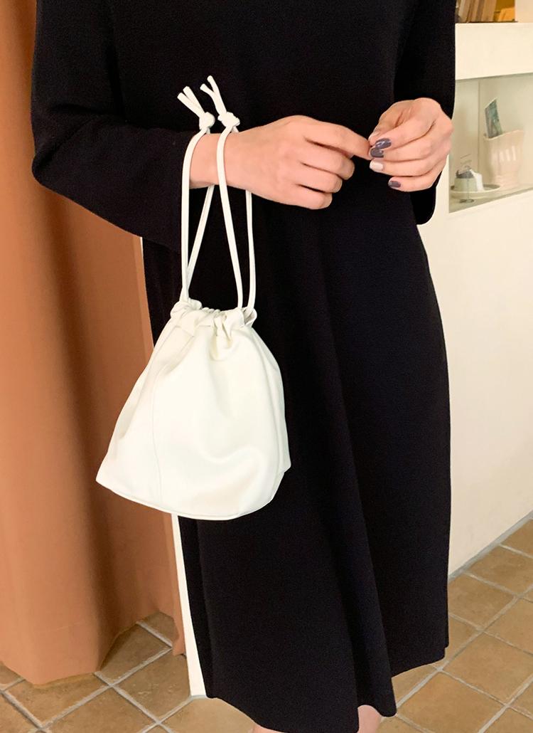 2WAYミニマル巾着バッグ・全3色