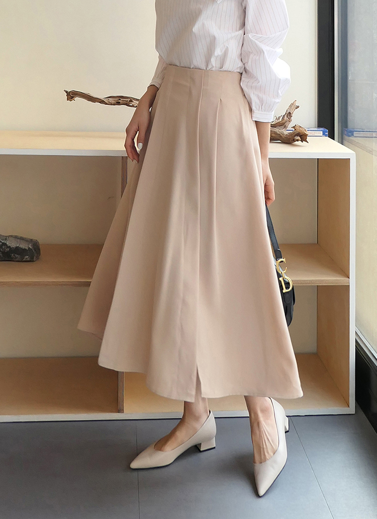 スリットフレアロングスカート・全4色