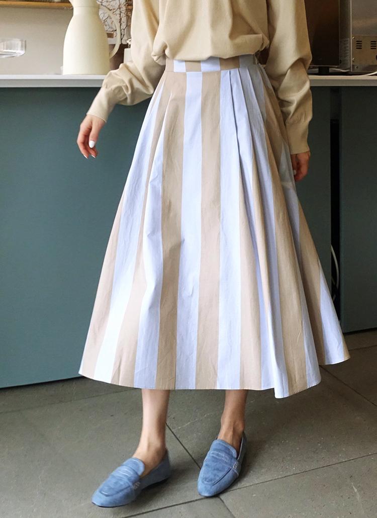 ストライプAラインスカート・全2色