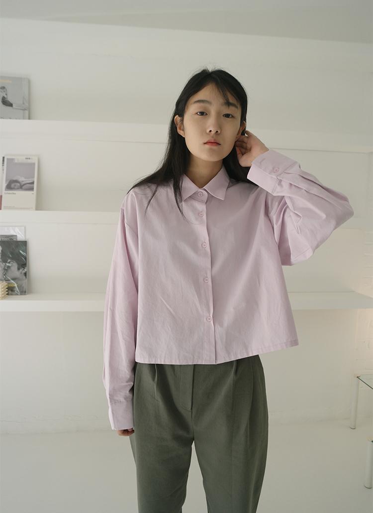 コットンクロップドシャツ
