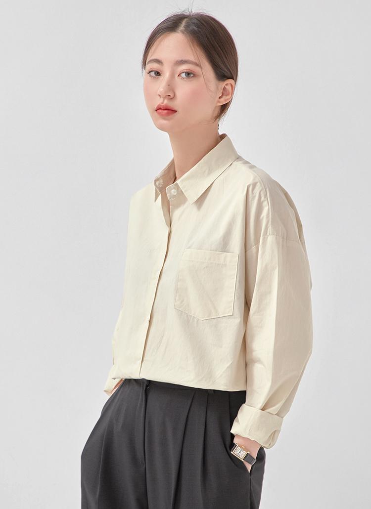 コットンポケットシャツ