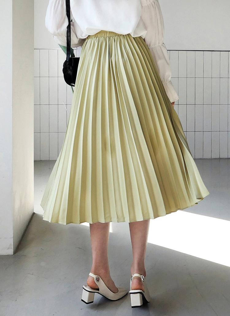 プリーツフレアロングスカート・全3色