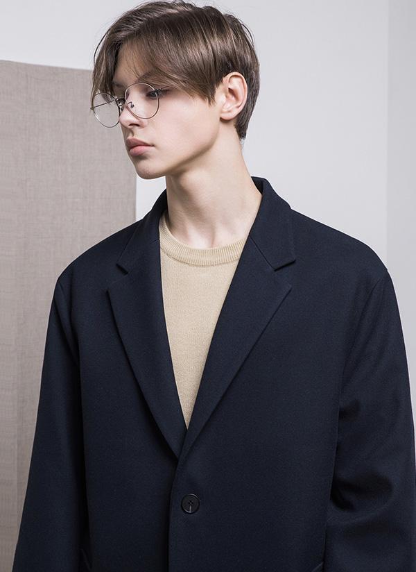 セミオーバーユニセックスジャケット(ネイビー)