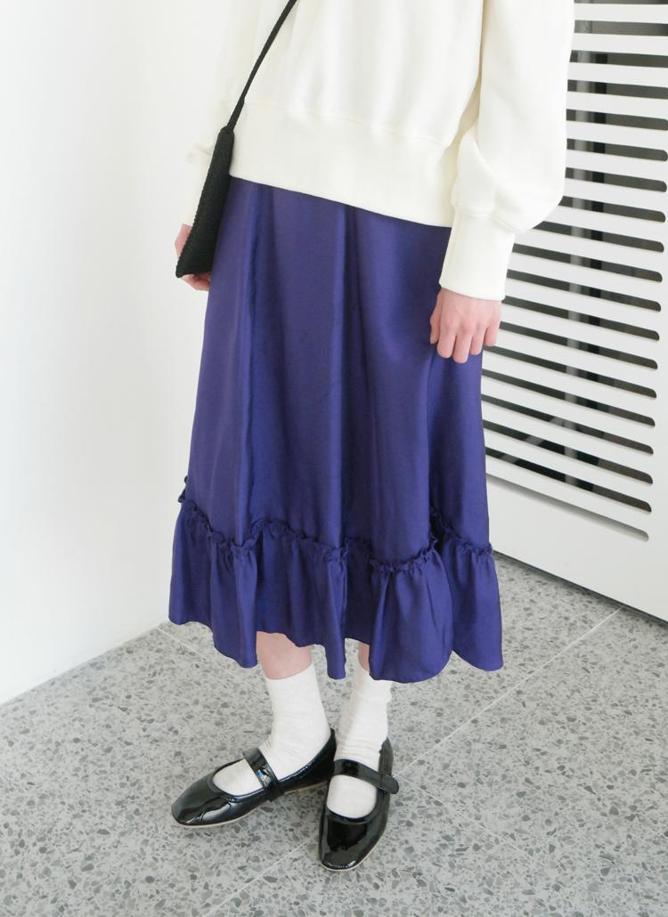ティアードヘムスカート