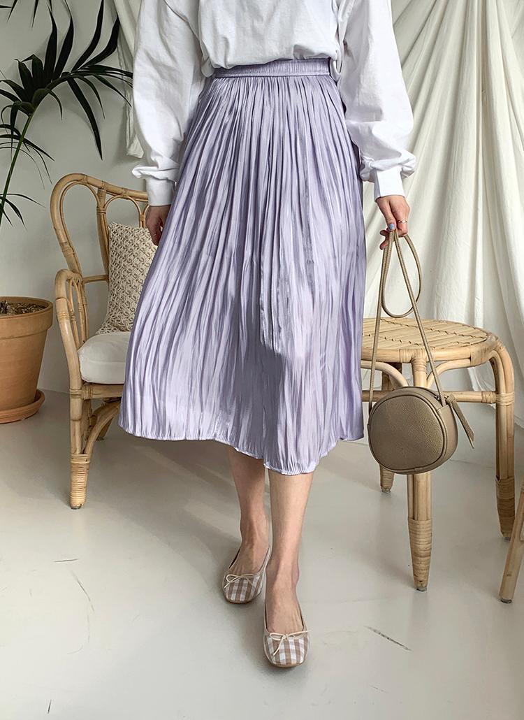 シルキープリーツスカート・全3色