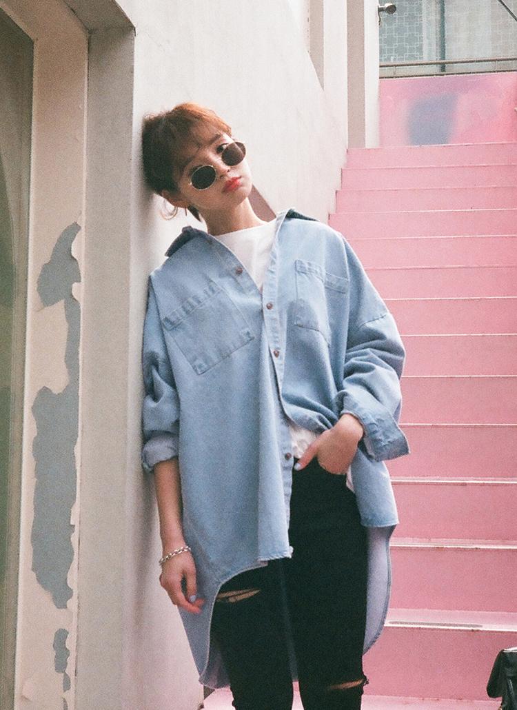 ツーポケットデニムシャツ・全2色