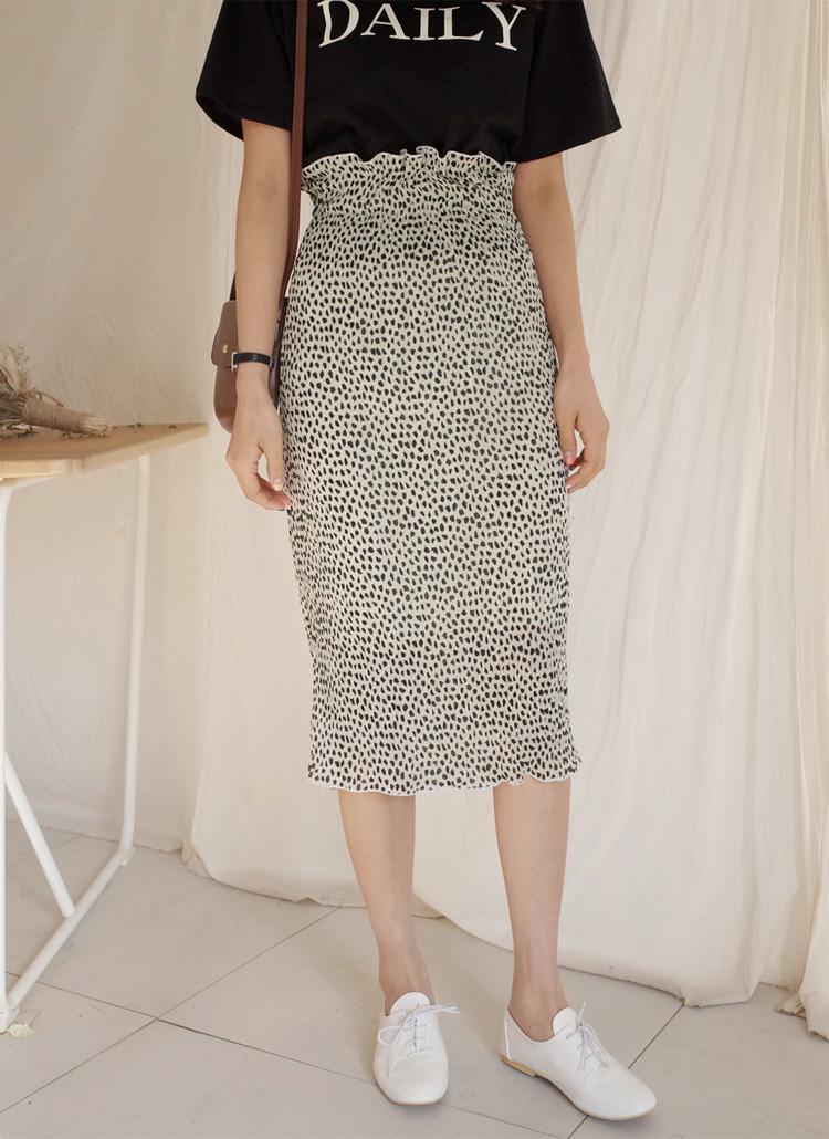 パターンリンクルタイトスカート・全3色