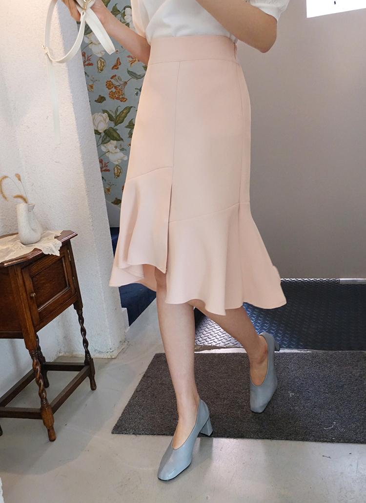 アンバランスフレアヘムスカート・全5色