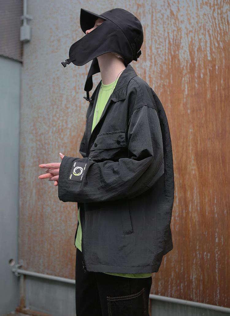 ポケットメタルジャケット(ブラック)