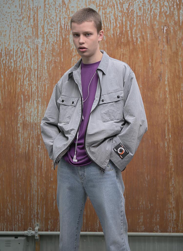 ポケットメタルジャケット(グレー)
