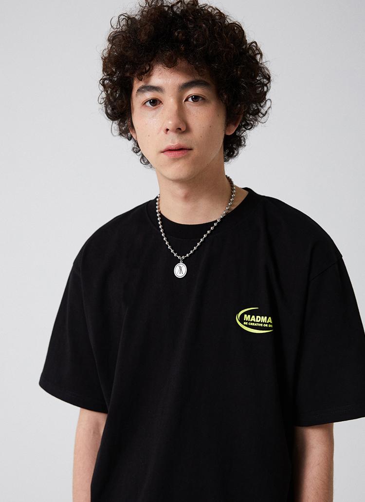 NEW MOONロゴ半袖Tシャツ(ブラック)
