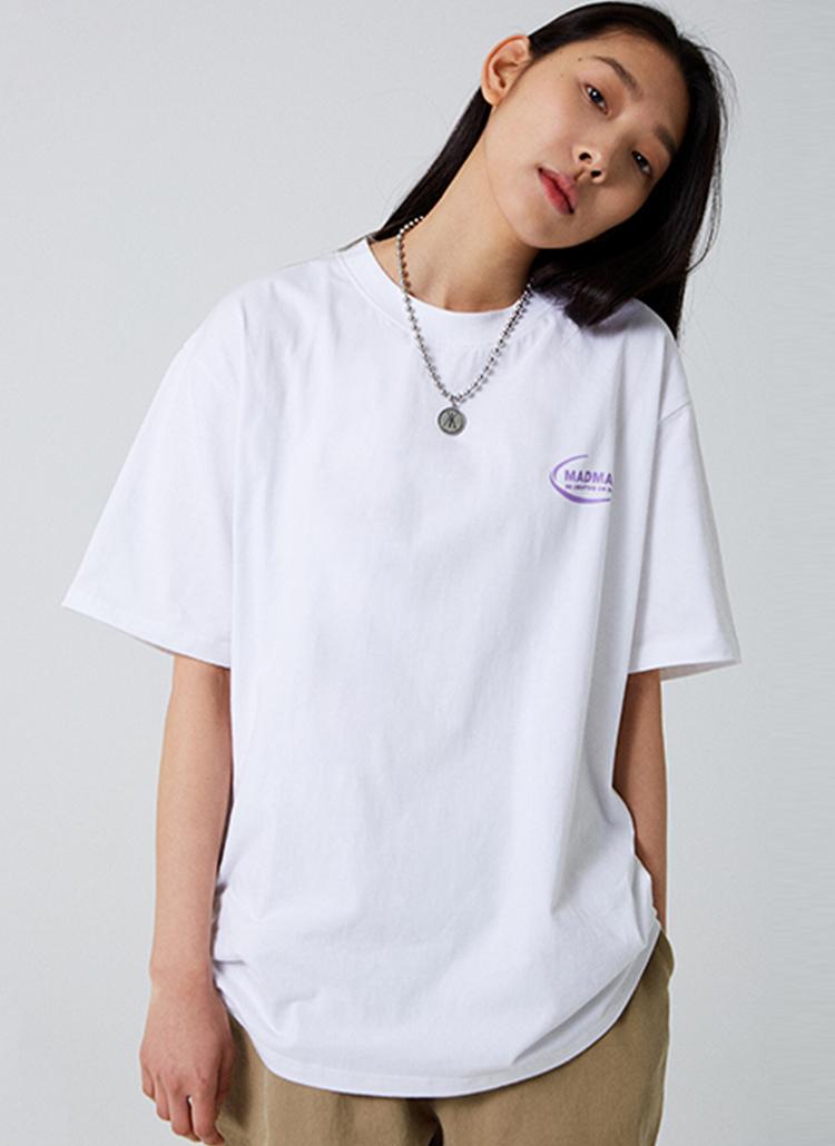 NEW MOONロゴ半袖Tシャツ(ホワイト)