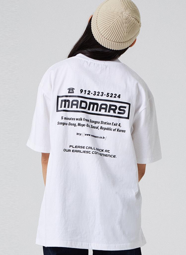 MISSED CALLロゴ半袖Tシャツ(ホワイト)