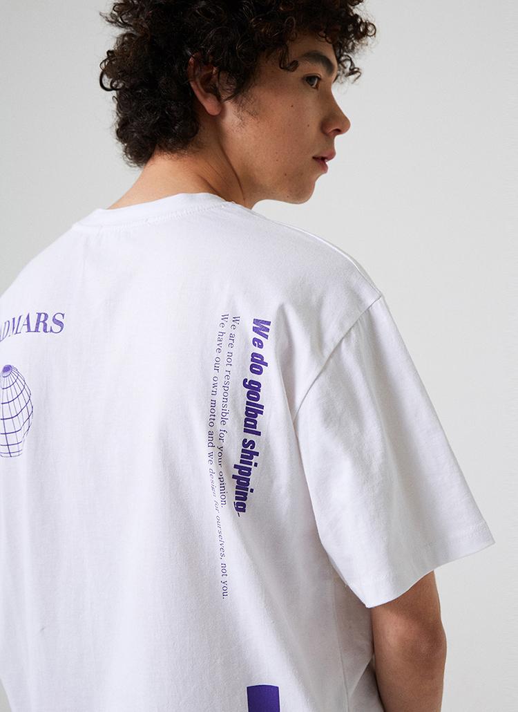 GLOBALロゴ半袖Tシャツ(ホワイト)