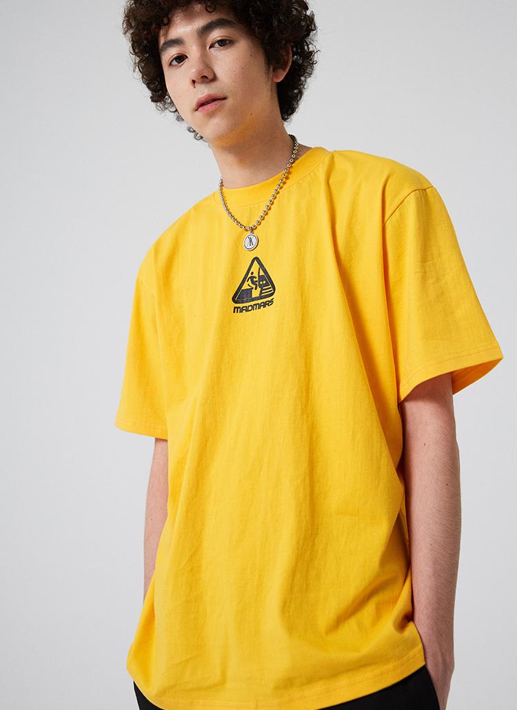 トライアングルロゴ半袖Tシャツ(イエロー)