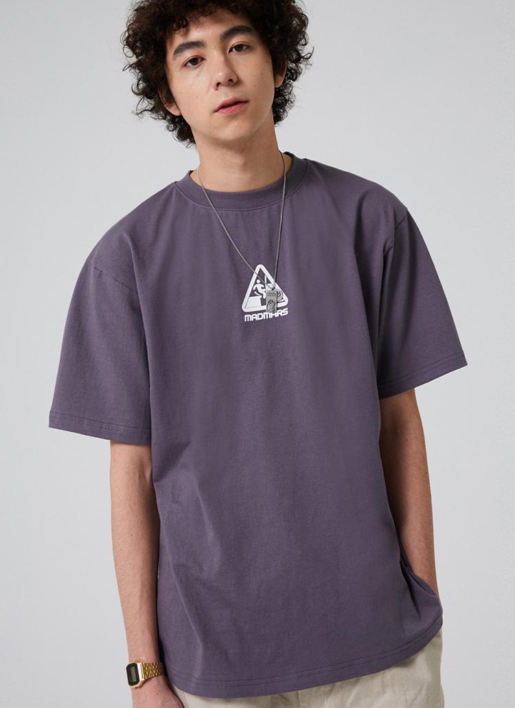 トライアングルロゴ半袖Tシャツ(チャコール)