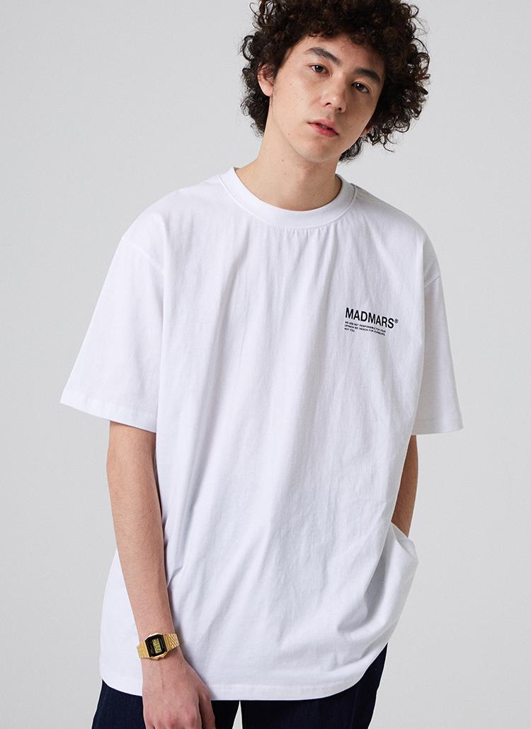 MADMARSロゴ半袖Tシャツ(ホワイト)