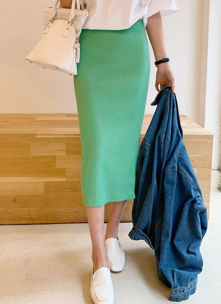 ウエストゴムタイトスカート